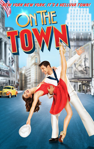 "Poster for the 2014 ""On the Town"" production on Broadway."