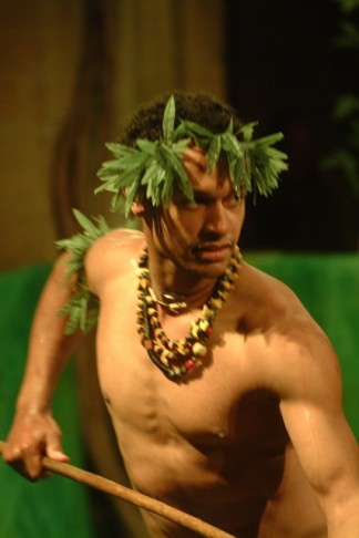 "'Sani Muliaumaseali'i as Friday in Offenbach's ""Robinson Crusoe""."