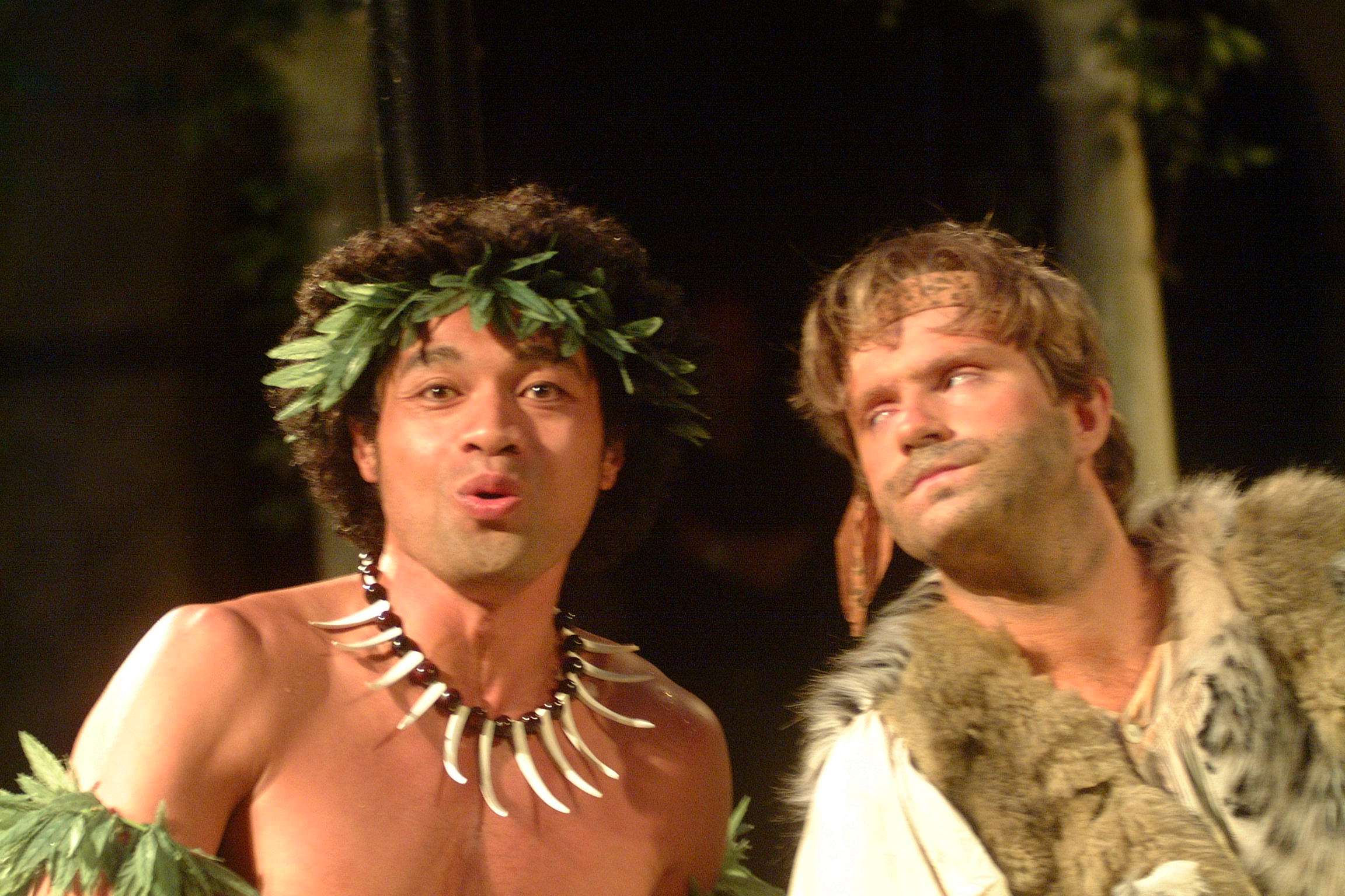 "Scene from Opera della Luna's ""Robinson Crusoe"" production."