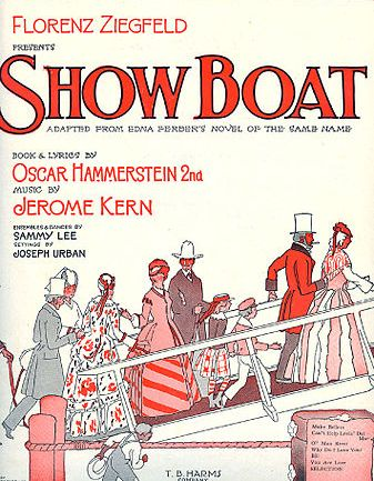 "Original sheet music cover for the 1927 hit ""Show Boat."""