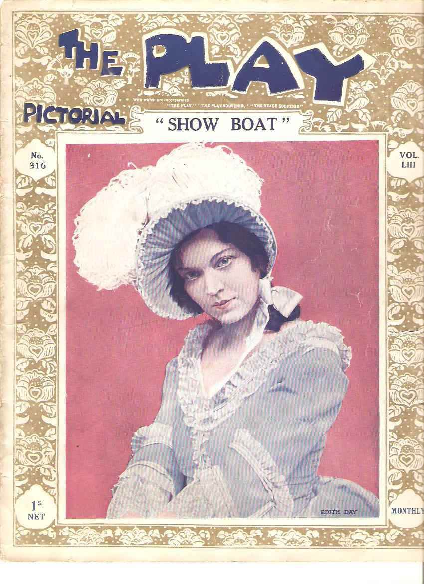 "The playbill for the original London production of ""Show Boat."""