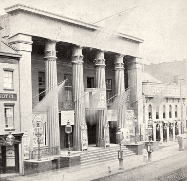 The Thalia Theatre (= Bowery Theatre) New York in July 1867.