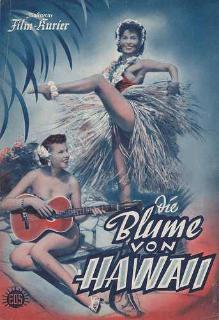 "Scene from the 1932 movie version of ""Blume von Hawaii"" starring Marta Eggerth."