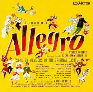 "The original cast album of ""Allegro."""