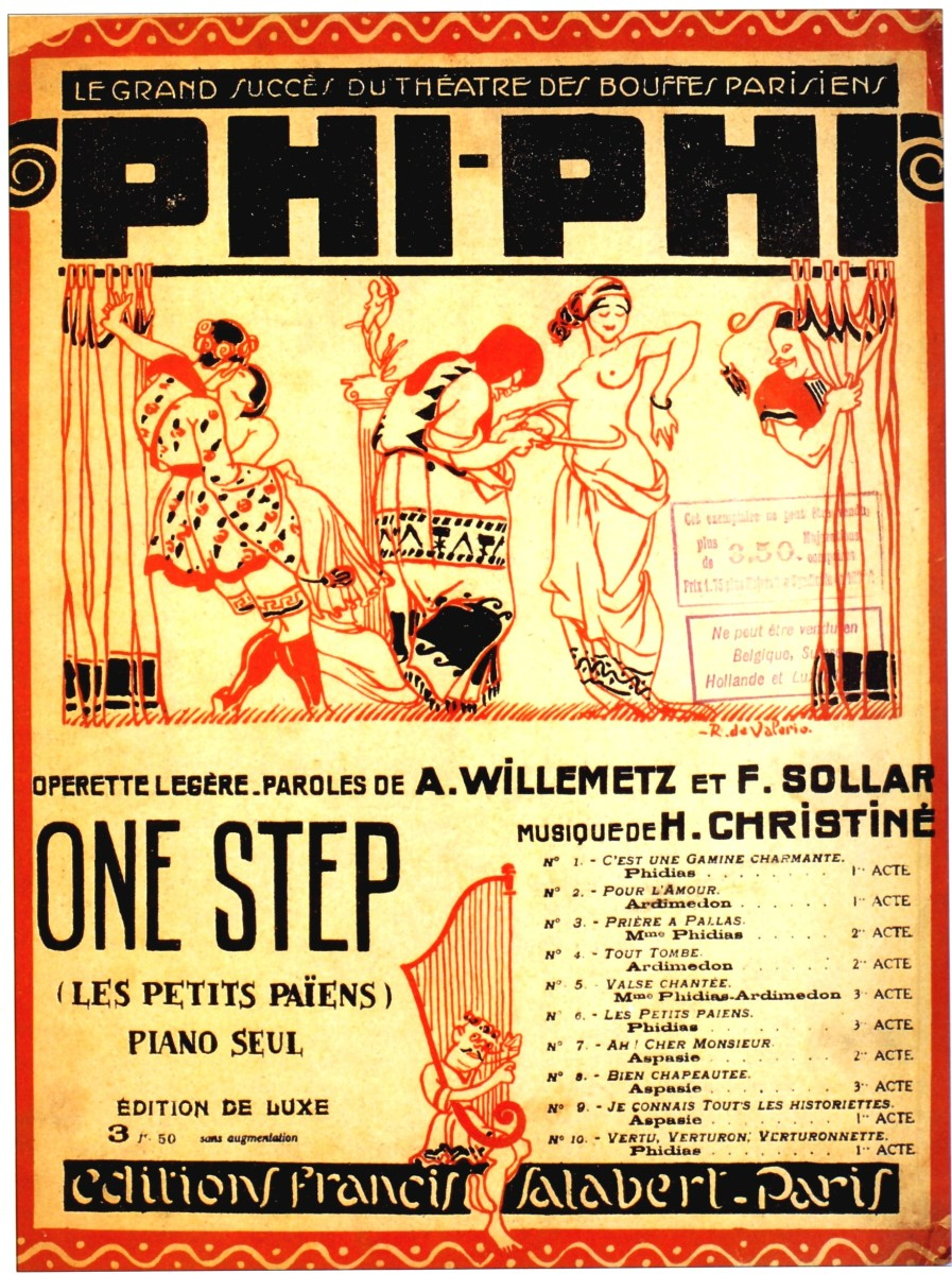 "Sheet music cover for ""Phi-Phi""."