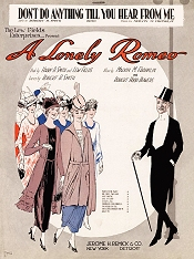 "Sheet music cover for ""A Lonely Romeo."""