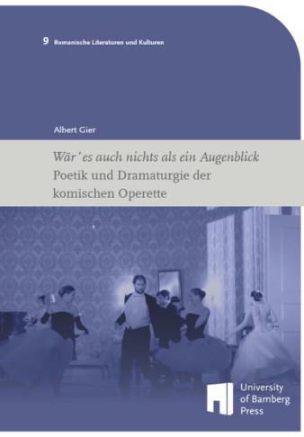 The cover of Albert Gier's new operetta study.