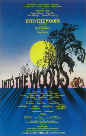 "Poster for the original Broadway production of ""Into the Woods."""