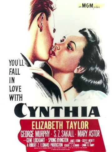 "The DVD cover for ""Cynthia,"" starring Elisabeth Taylor."