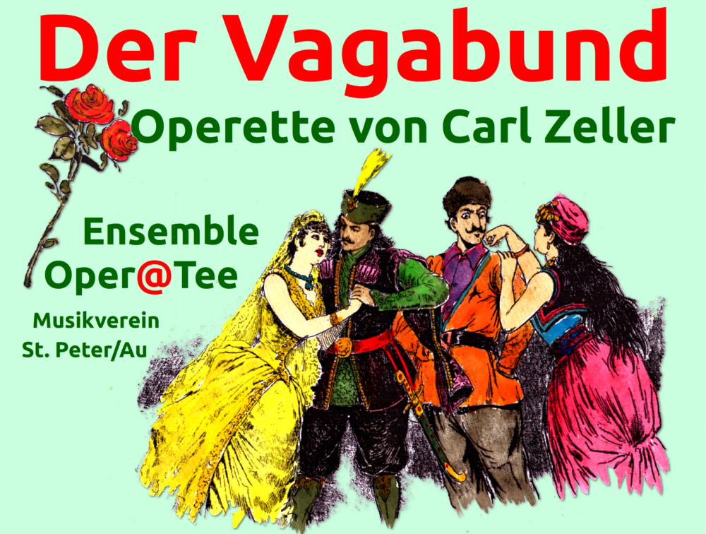 "Poster for the production of ""Der Vagabund"" in St. Peter, 2015."