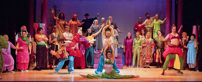 "A scene with the full cast of ""Kismet"" at the Loveland Opera Company. (Photo: LOC)"