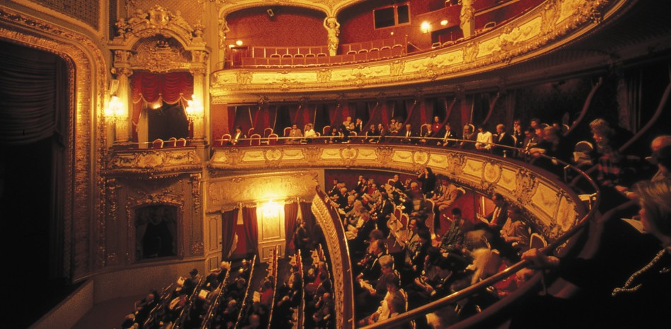 The opulent interior of historic theater in Baden Baden. (Photo: Theater Baden Baden)
