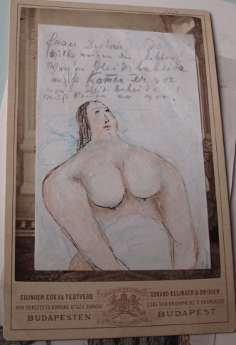 "Typical ""pornographic"" drawing by Johann Strauss."