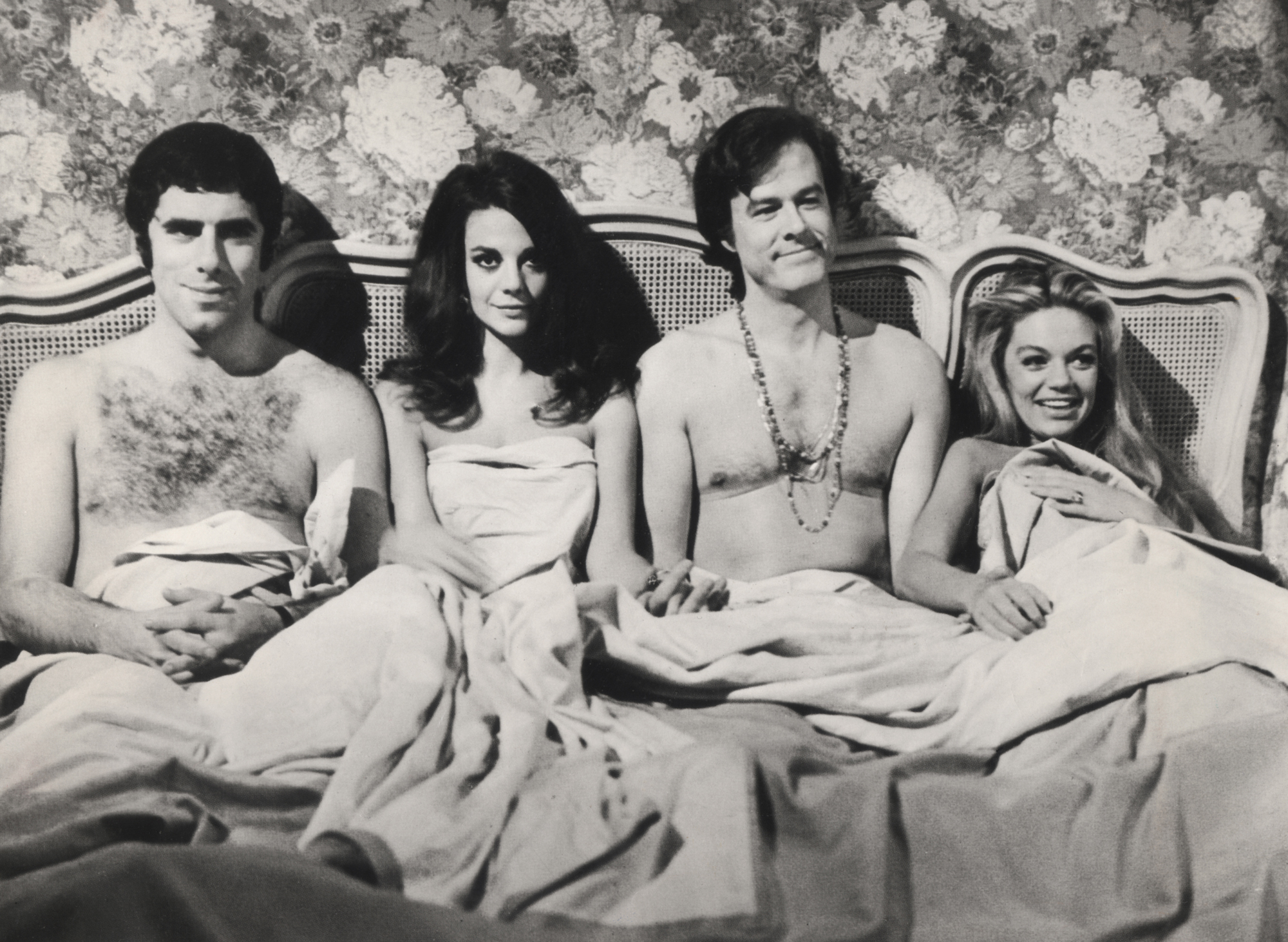 "Still from the movie ""Bob & Carol & Ted & Alice,"" 1969. It is about wife swapping, infidelity, and other types of experimentation with interpersonal relationships. (Photo: Wikipedia)"