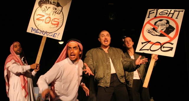 "A scene from the original production of ""The Beastly Bombing."" (Photo: Kim Gottlieb Walker)"