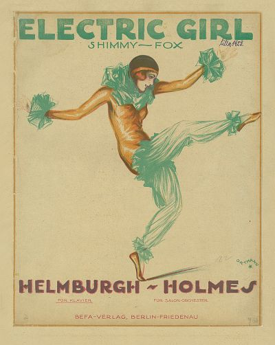 "The ""Electric Girl"" sheet music cover."