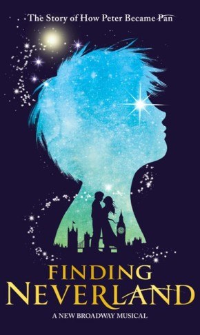 "The poster for the 2015 Broadway version of ""Finding Neverland."""