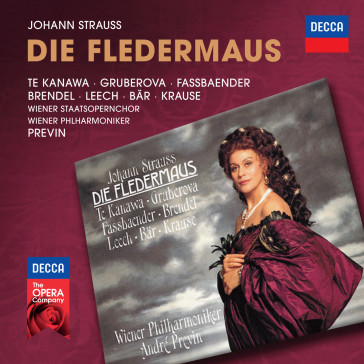 "André Previn's 1991 recording of ""Fledermaus"" starring Kiri te Kanawa. (Photo: Decca)"