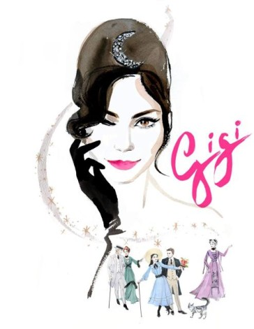 "Poster for the 2015 Broadway production of ""Gigi."""