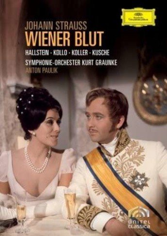 "Cover of the DVD version of ""Wiener Blut"" starring Ingeborg Hallstein and René Kollo. (Photo: Deutsche Grammophon)"
