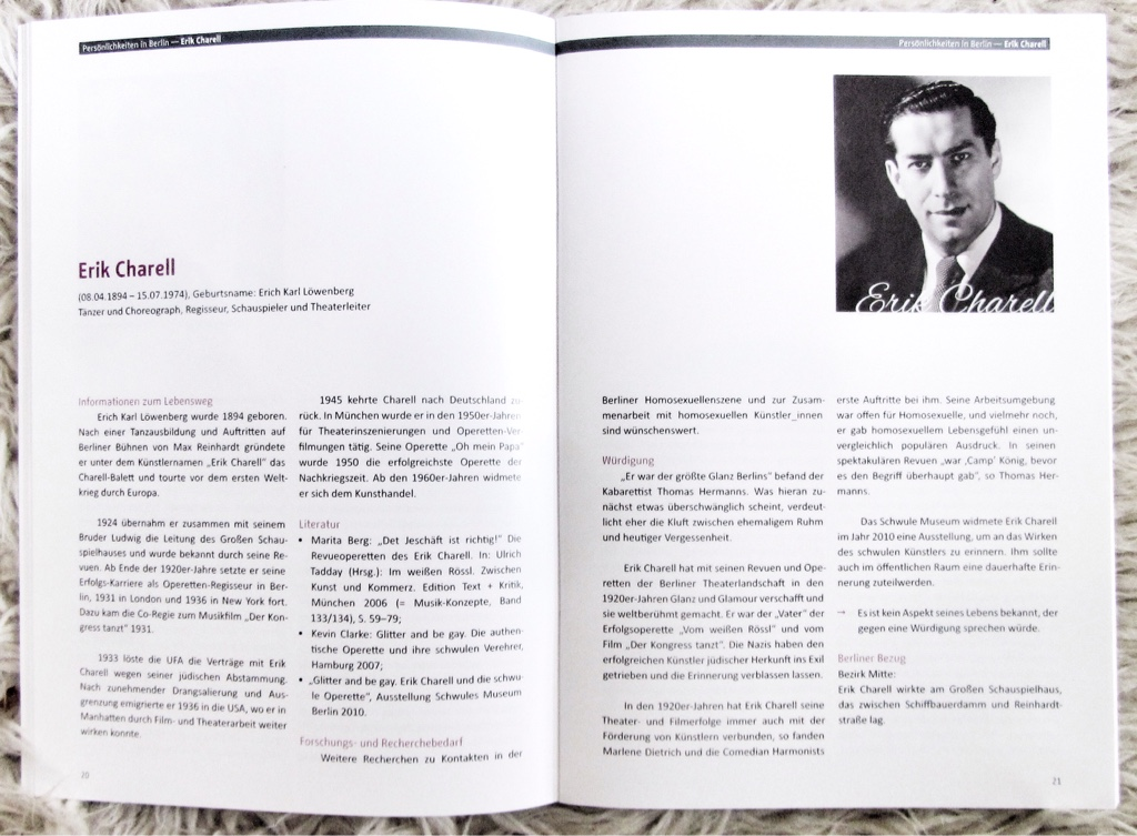 A double-page devoted to Erik Charell.