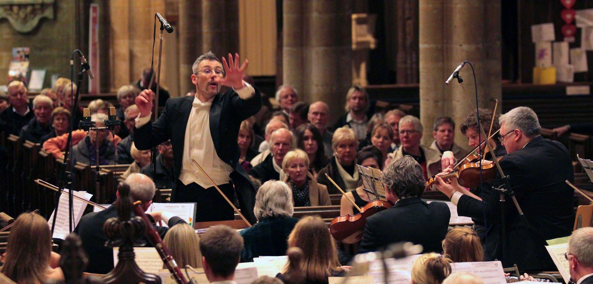 Conductor Dario Salvi and his Imperial Vienna Orchestra.