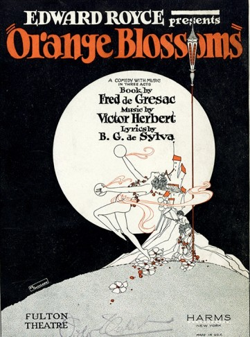 """Sheet music cover for Herbert's """"Orange Blossoms."""""""