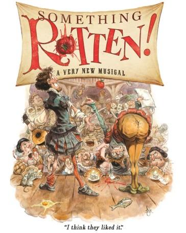 "Poster for ""Something Rotten!"" 2015."