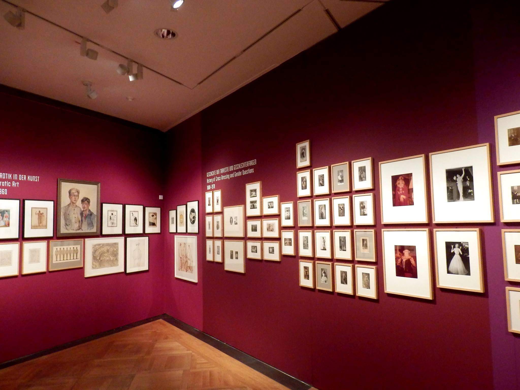 "One section of the exhibition ""Homosexualität_en"" at the Deutsches Historisces Museum. (Photo: Schwules Museum*)"