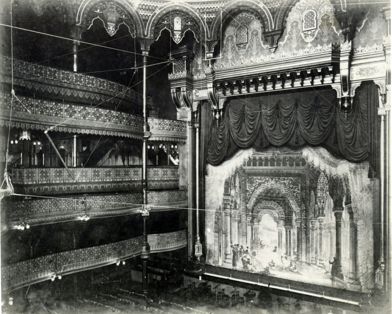 The Interior of the Alhambra Theatre of Varieties, London 1897.