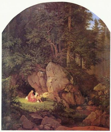 """Genoveva in the Forest Seclusion"" by Adrian Ludwig Richter, 1841. (Photo: Wikipedia)"