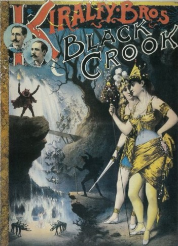 "Poster for the ""Black Crook"" production 1866."