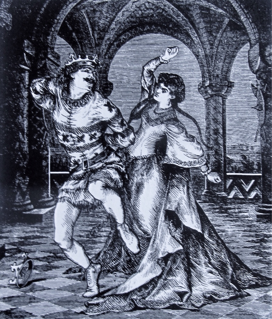 Hervé and Emily Muir as Chilpéric and Frédégone in London.