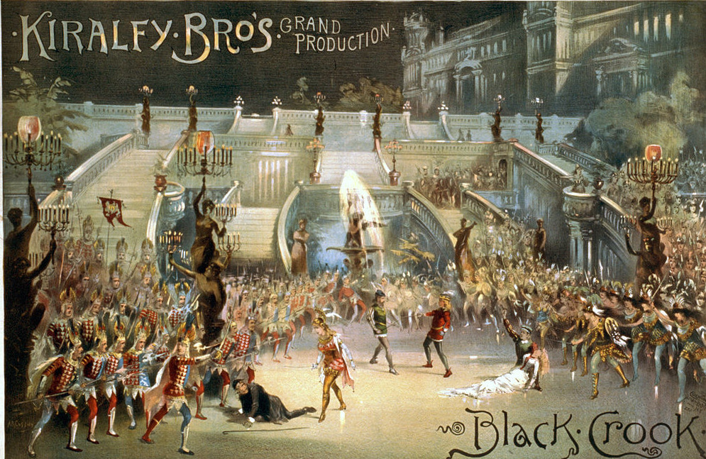"The finale of ""The Black Crook"" 1866."