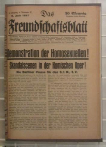 Das Freundschaftsblatt, 1927.