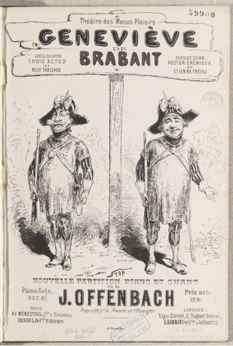 "The cover of the piano score for ""Geneviève de Brabant."""