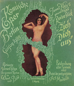 Program for a revue at the Komische Oper in the 1920s.