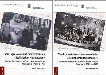 The two volumes of Boris Kehrmann's Felsenstein biography.