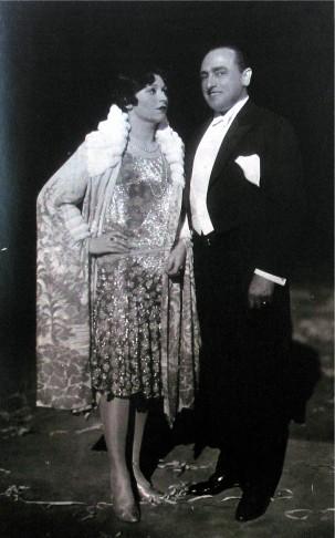 "Rita Georg and Hubert Marischka, the two original stars of ""Die Herzogin von Chicago"" in 1928. (Photo: ORCA)"