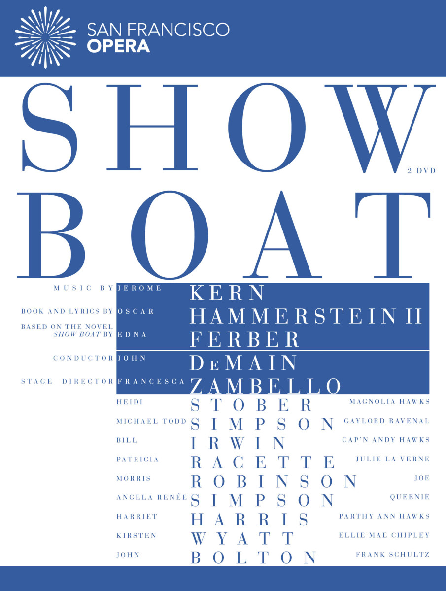 "DVD cover for San Francisco Opera's ""Show Boat."""