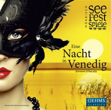 "Cover of the cast album ""Eine Nacht in Venedig"" from Mörbisch, 2015."