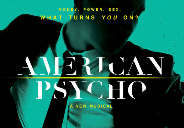 "Poster for the Broadway version of ""American Psycho."""