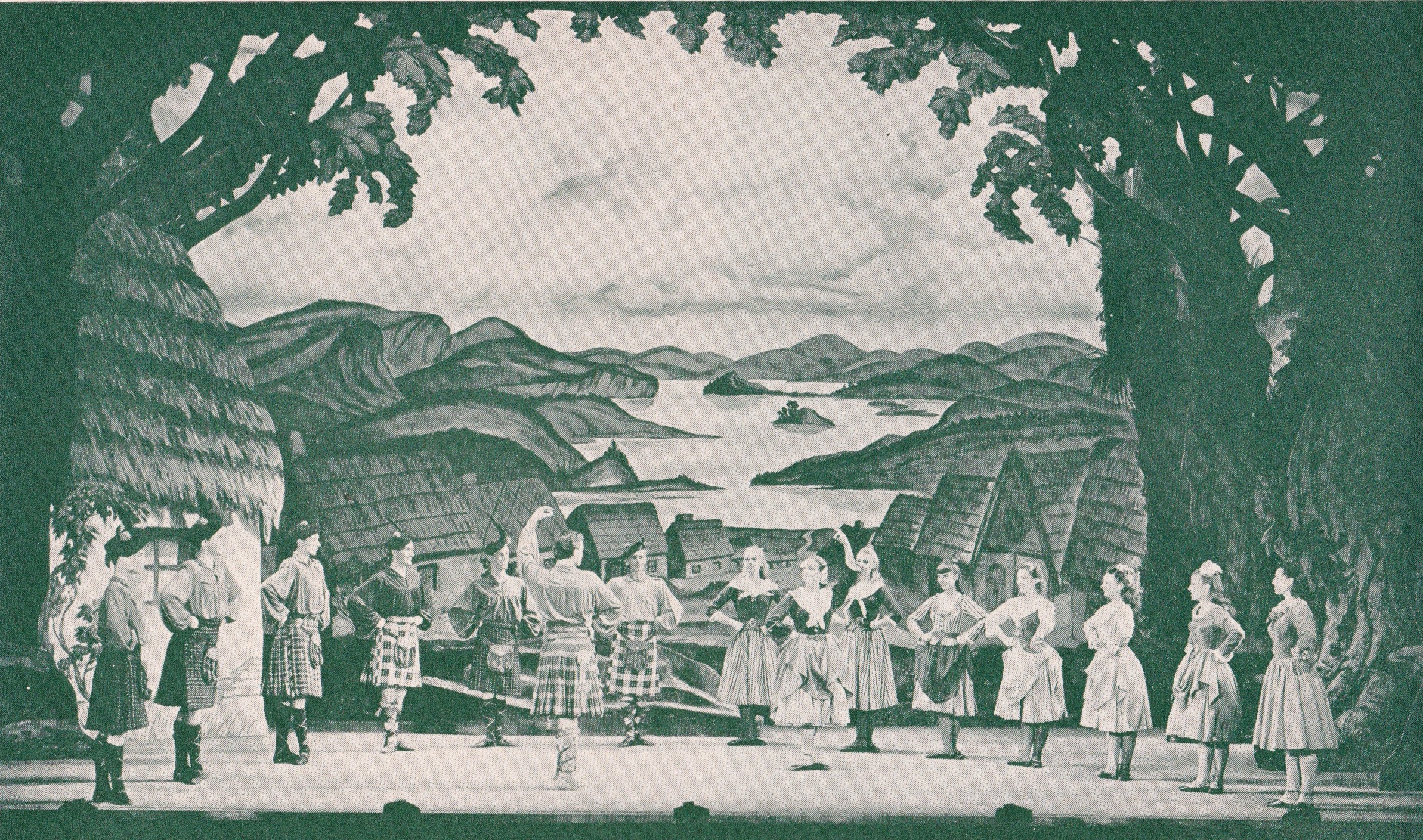 "Scene from the original ""Brigadoon"" production on Broadway."