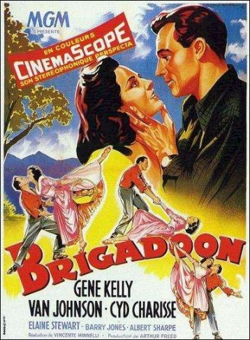 "French poster for the Hollywood version of ""Brigadoon."" (Photo: Wikipedia)"