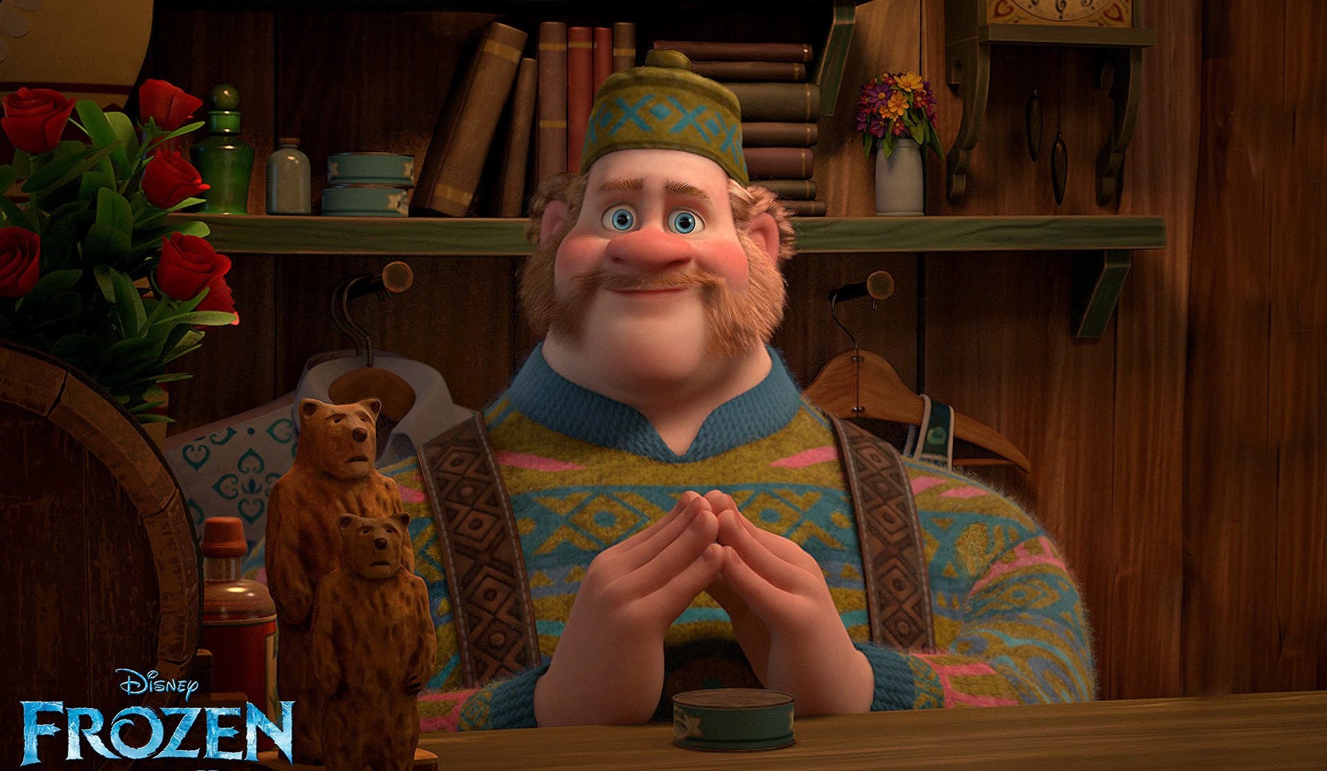 The character of Oaken, a funny shop vendor high up in the snowy mountains. (Photo: Disney Studios/Promo)