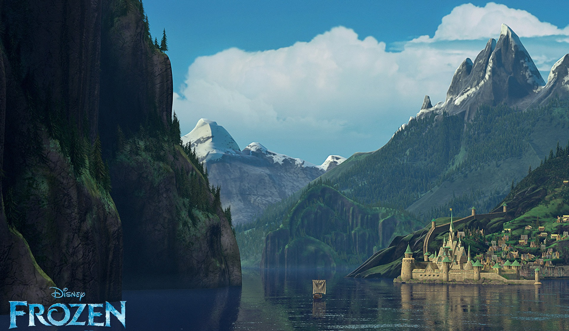 "Scenic Norwegian backdrop in ""Frozen."" (Photo: Disney Studios/Promo)"