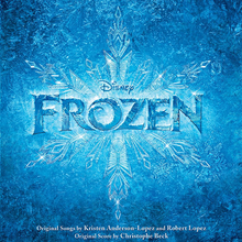 "The cover of the ""Frozen"" soundtrack."