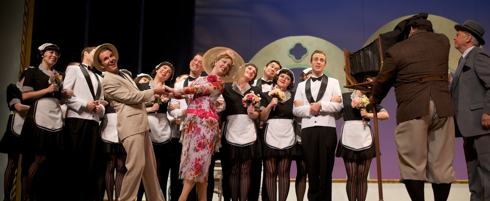 """Oh, Kay!"" at Ohio Light Opera, with Nathan Brian, Jessamyn Anderson, & cast. (Photo: Matt Dilyard)"