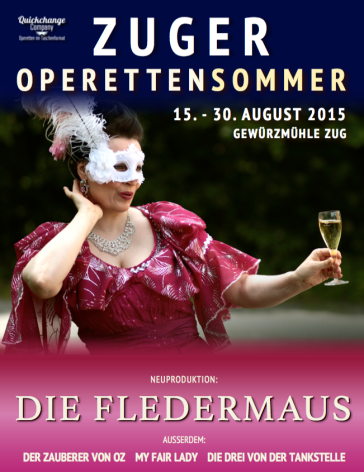 The poster for the Zuger Operettensommer 2015.