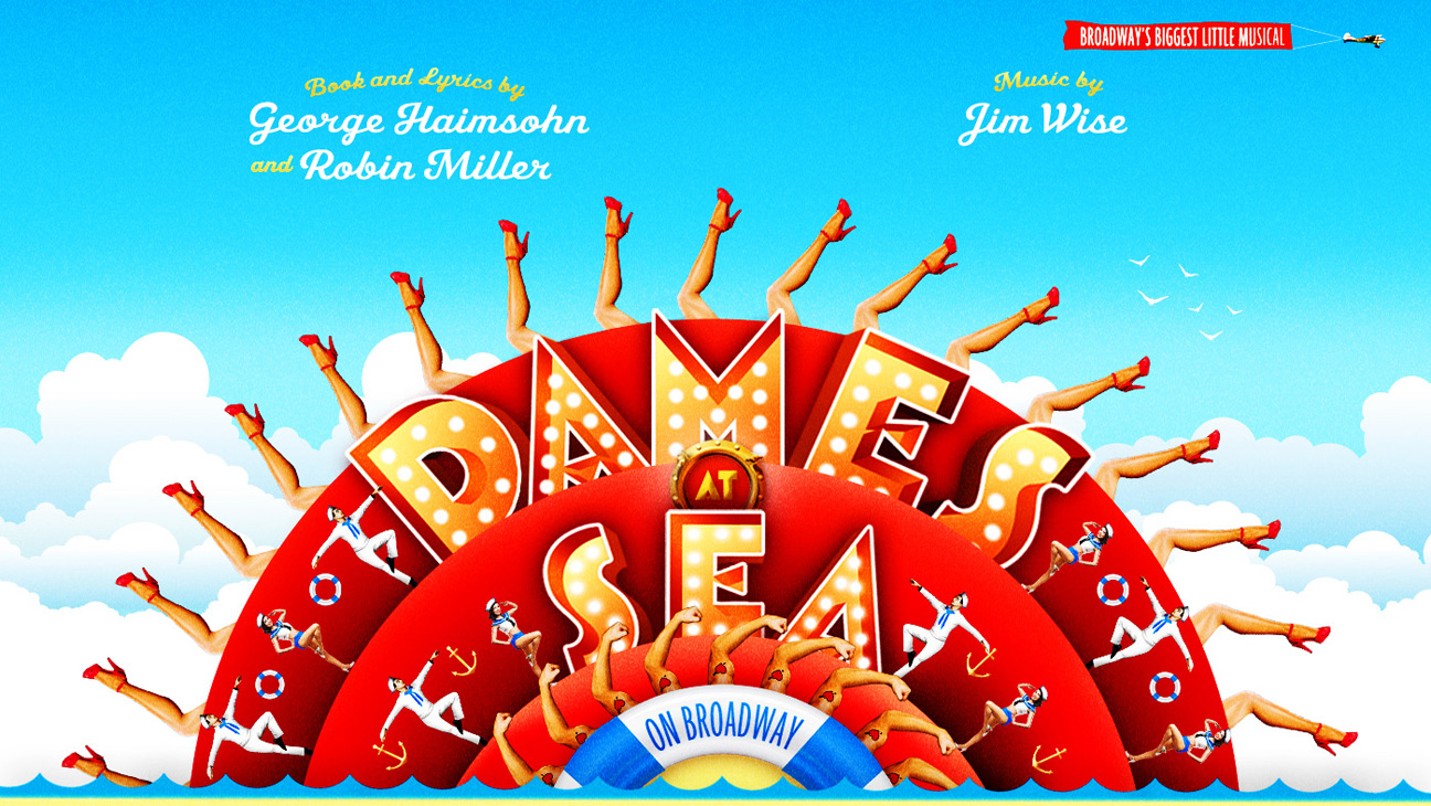 "Poster for Broadway's new ""Dames at Sea."""